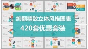 炫麗精致立體風格商務圖表420套大合集【超級優惠】
