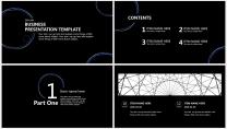 【藍黑科技】極簡大氣商務報告年終匯報項目總結提案示例3