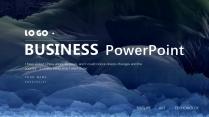 【黑蓝山峰】墨兰简洁大气欧美商务计划年终模版3