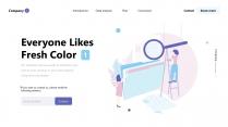 粉藍超清新優雅時尚商務匯報模板