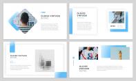 【簡約商務】淡藍商務風干凈簡潔工作匯報PPT模板示例3