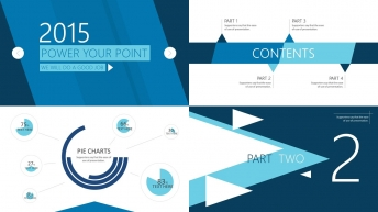 超實用大氣簡約可視化商務報告7(四種配色)