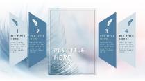 【高颜值蓝羽】 简约欧美风商务项目汇报书PPT模板示例4