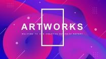 【抽象艺术】总结报告工作计划商务模板