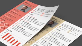 多配色精美实用个人履历(CV)模板(A4一页纸大小