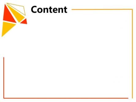 【橙黄·简单·三角形组合ppt模板】-pptstore