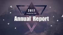 【A】炫紫大气商务报告模板