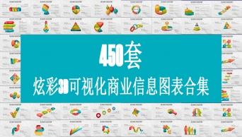炫彩3d立体图表合集450套合集【超级优惠套装】