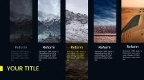 【绝美自然】深色自然风景简洁商务年终报告示例3