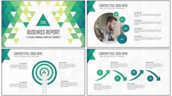 2015年终创意商务总结汇报PPT模板02