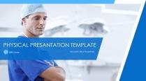 蓝色高端医疗商务模板