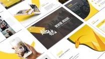 【黃色28】大氣商務工作報告PPT模板【200】