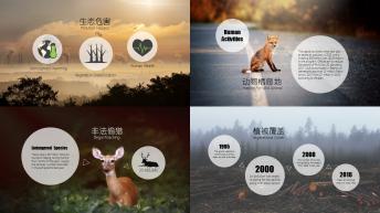 【小清新-扁平化】生态公益宣传&新能源环保技术推广示例4