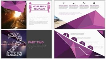 多边形可视化杂志排版实用PPT模板(震惊四座)示例5