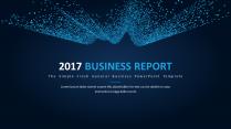 【科技点线】简约大气通用商务报告模板06|蓝色