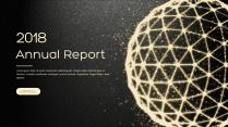 金色年终总结商务报告工作计划项目策划模板系列十三