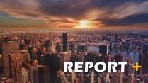 年度报告-欧美风城市系列简约大气PPT模板