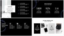 【藍黑科技】極簡大氣商務報告年終匯報項目總結提案示例6