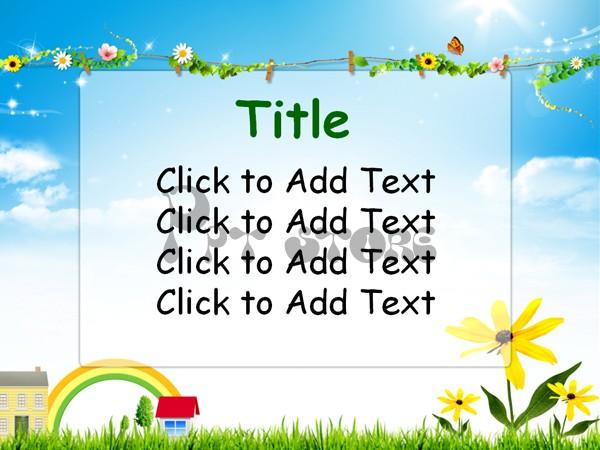 小学英语课件ppt模板示例2
