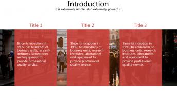 【精致商务】简约红色通用报告模板示例3