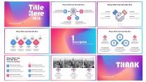 【炫彩光晕】欧美渐变配色光感简约创意报告模板示例6