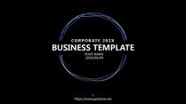 【蓝黑科技】极简大气商务报告年终汇报项目总结提案