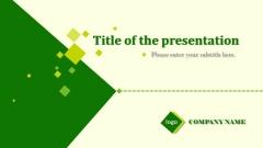 绿色简洁PPT通用商务模板
