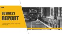 【H】黑黄简约大气商务工作汇报模板