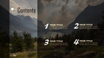 【自然山峰】大气风景夜景深色商务计划年终策划模版示例4