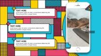 【孟菲斯】创意时尚孟菲斯风格模板示例6