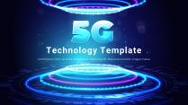 5G时代科技简约汇报PPT模板