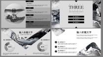 【黑白纹理】创意 时尚 质感 商务艺术 水墨模版