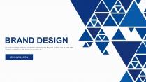 【视觉力】三角几何公司企业工作通用PPT模板