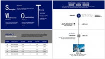 【分条析理C】蓝色科技极简大气商务条纹工作总结汇报示例7