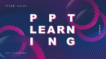 科技感紫蓝色大气商务报告PPT模板