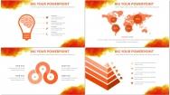 水彩风商务ppt模板6(橙色)示例7