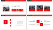 【商务大咖】红色画册建筑公司企业工作策划方案PPT示例3