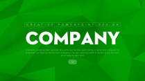 【立體】綠色立體抽象創意商務匯報總結PPT模板