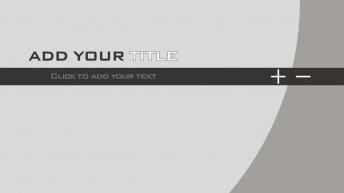 硬朗金属灰扁平风格商务技术汇报模板