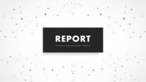 【現代簡約】創意點線現代科技總結報告工作計劃模板