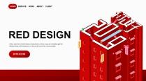 【你好,2019】红色创意公司企业年终工作PPT示例2