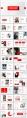【欧美简约】创意红色多排版现代商务汇报工作总结模板示例3