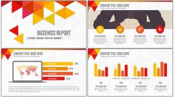 2015年终创意商务总结汇报PPT模板01