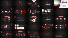 【红色质感微立体商务模板01】简约创意时尚渐变