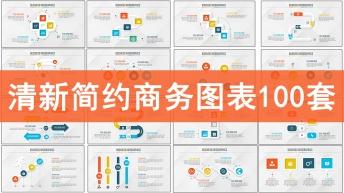 清新简约立体风格商务图表合集100套
