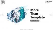 【创意】水墨风景杂志风通用商务模板示例2
