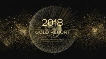 金色年终总结商务报告工作计划项目策划模板系列二十七