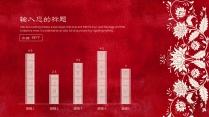 【红袖招】复古印染红怀旧喜庆中国风PPT模板示例6