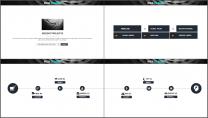 酷黑网页风企业/公司工作汇报PPT模板示例5