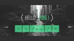 【动态】【欧美网页】【荧绿·简明科技】年终总结系列